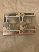 Funko Pop STAR WARS YOUNG LUKE & LEIA SKYWALKER NYCC 2020 + Plastic Case