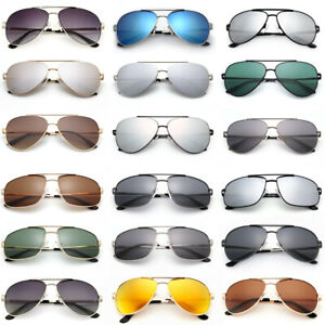 Fashion Women Mens Aviator Polarized Sunglasses Driving Mirrored Eyewear Case UV