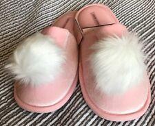 New Victoria Secret Pom Pom Slippers Pink Medium 7-8