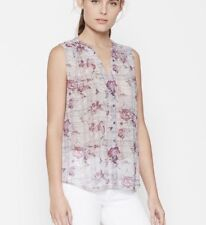 """Joie """"Finnegan"""" Blouse NWT size S Small Grey Floral Silk Tank Shirt Top Theory"""