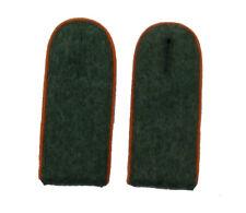 German WW2 Army M43 enlisted ranks shoulder boards.Orange piping