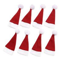 8 x Covered Weihnachtsmuetze 15,5x6cm Besteckhalter fuer Weihnachten J9V8
