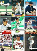 HUGE MIKE MUSSINA BASEBALL CARD LOT - NEW YORK YANKEES-BALTIMORE ORIOLES-HOF