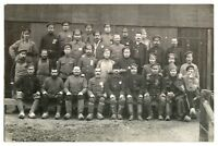 Antique WW1 military RPPC postcard portrait German soldiers prisoners of war