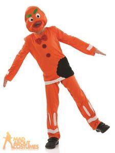 Kids Boys Girls Gingerbread Man Costume Christmas Shrek Fancy Dress Child Outfit