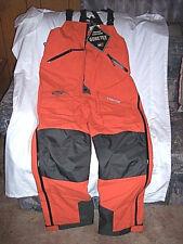Mens Large Tall Goretex Bibs Rain Pants Orange Non Insulated Bib Overalls $240