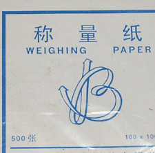 """Non-absorbent, Non-stick Cellulose Weighing Paper, 500 Sheet, 3""""x3"""", for Dish"""