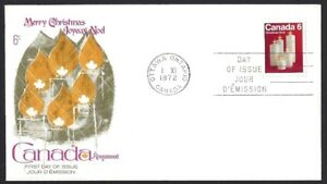 Canada    # 606    KINGSWOOD  CHRISTMAS CANDLES COVER     New 1972 Unaddressed