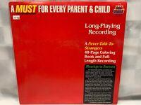 Kid Stuff Never Talk To Strangers Parent & Child w/ Book LP Record Album Vinyl