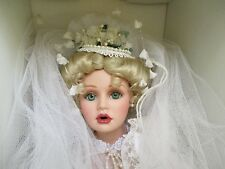 "Destiny Dolls The American Bride 22"" Porcelain Bridal Doll 1996 Limited Edition"