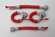 Pack of 4 Soft Shackles Dyneema Sk75 Silver 3mm Tens 880kg Weight 2.2 Gr -new