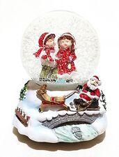 Gro�Ÿe Mechanische Spieluhr Schneekugel Schüttelkugel Weihnachtsmann Schlitten