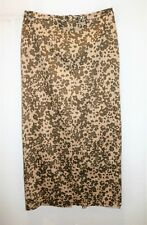 MGXX Brand Beige Animal Print Maxi Skirt Size 12 LIKE NEW #AN02