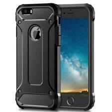 Black Luxury Back Cover Case for iPhone 5S 5 SE Hybrid Armor Shock Proof