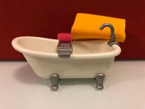 Playmobil city life casa de muñecas bath time bañera baño esponja y toalla 5307