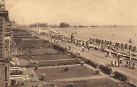 1914 VINTAGE LOWESTOFT: THE PROMENADE, GENERAL VIEW POSTCARD - sent to London