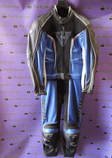 NEW DAINESE LEATHER MOTORCYCLE RACING SUIT NEWSPORT BLUE BLACK MEN'S No.EU 48