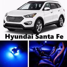 10pcs LED Blue Light Interior Package Kit for Hyundai Santa Fe 2013-2016