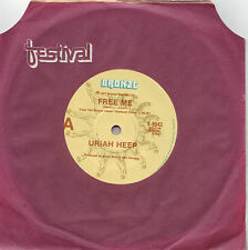 RARE Uriah Heep Free Me Australian pressing 45 record on Bronze 1977