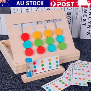 Montessori Education Four Color Game Kids Wooden Early Learning Toys