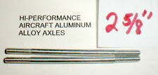"""(2) Hi-Per Aluminum Axles 5:40 thread Vintage 1960's Slot Car NOS  2 5/8"""" Long"""