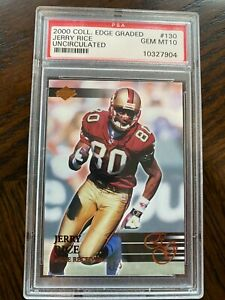 2000 Collector's Edge NFL Uncirculated Jerry Rice /5000  🔥 PSA 10 🔥 HOF 49ers