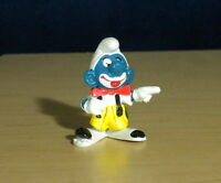 Smurfs 20033 Clown Smurf Circus Figure Vintage PVC Toy Schleich Figurine Peyo HK