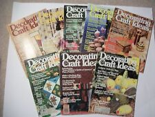 Lot of 8 DECORATING & CRAFT IDEAS 1979-Needlecrafts, painting, glass,beading et