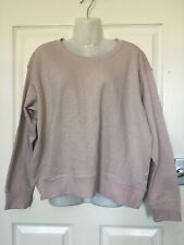 Baby Pink Shimmery Sweater Jumper Size Large New