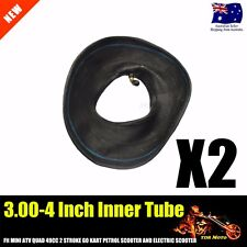 "2Pcs 3.00 - 4  4"" INCH Inner TUBE ATV QUAD Bike Gokart Buggy Mower Bent Valve"