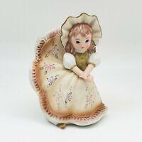 VTG Lefton 1960s Porcelain Bloomer Girl Figurine KW157, minor damage