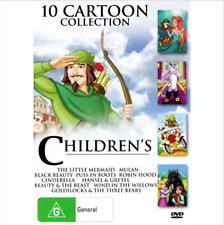 10 Cartoon collection - the little mermaid, wind in the willows, 494 minutes New