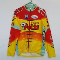Vtg Team Polti Thermal Cycling Jersey Jacket Mens 2XL SMS Coppi Italy Made Tour