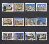 Serie ayuntamientos bellos de Francia sellos adhesivos 2015