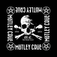 More details for motley crue official the final tour black bandana rock band music kerchief