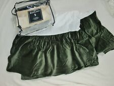 Ralph Lauren Spruce Green Edward Velvet Cal King bed skirt dust ruffle