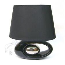 Lampe de table design coloris noir argent