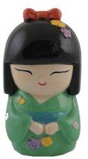 Spardose Geisha grün Japan Kokeshi Asien Sparschwein Geldgeschenke Geschenk
