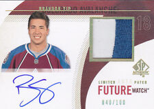 10-11 SP Authentic Brandon Yip /100 Auto Patch Limited Future Watch Rookie 2010