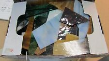 Scrap Glass for Mosaics 1.5 Lbs. Stained Glass all sizes shapes textures / Mfgs.