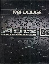 Dodge Aries K 1981 USA Market Sales Brochure Sedan Wagon Custom Special Edition