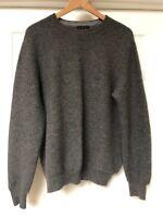 LXRI Mens Size Large Cashmere Sweater Grey Long Sleeve Crew Neck