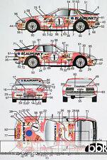 1/24 PORSCHE 944 TURBO BLAUPUNKT RACING DECAL for HASEGAWA