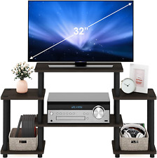 Tools Entertainment TV Stands Wood and Pvc Green label product. Dark Brown/Black