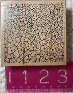 PSX G-3196 CRACKLE TEXTURE BACKGROUND WOOD MOUNT RUBBER STAMP
