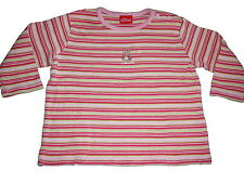 s. Oliver tolles Langarm Shirt Gr. 62 rosa-grün geringelt !!