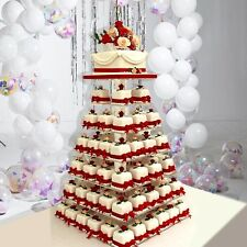 7 Tier SQUARE HEAVY DUTY WEDDING PARTY CUPCAKE STAND