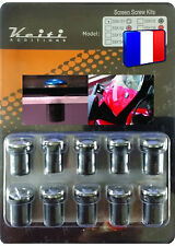 KIT BULLE 10 BOULONS CHROME PW R1 RD ROYAL STAR SR TDM