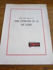 CITROEN ID DELUXE ROAD TEST BROCHURE