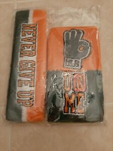 New WWE John Cena 15X Never give up Throwback Headband Wristbands Sweatbands Set